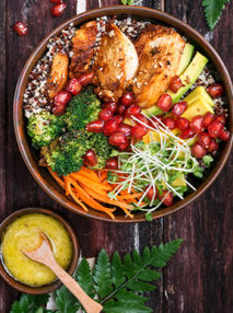 Image for Chicken with Pomegranate and Mango Salad