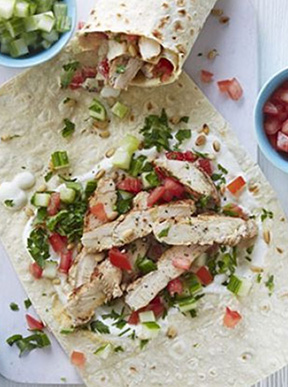 Wholemeal chicken wrap recipe