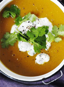 Spiced Lentil and Roasted Kumara Soup