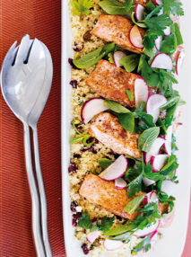 Spiced Salmon Pistachio Couscous