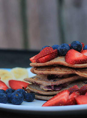 Image for wholemeal blueberry pancakes
