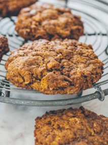 Image of baked Anzac cookie