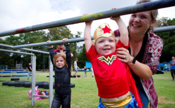 Young child having fun at a Diabetes Queensland event.