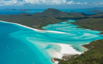 Green island in the Whitsunday