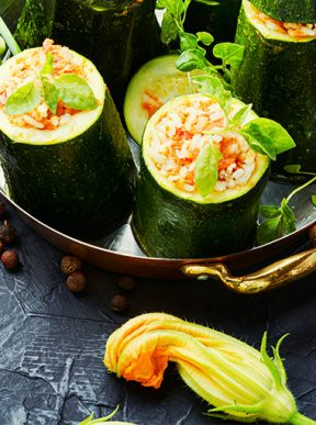 Stuffed Zucchinis Recipes Diabetes Queensland