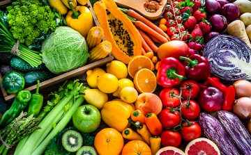 colourful fruit and veg